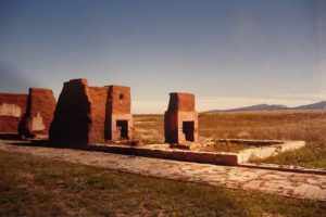 Remnants of buildings on Santa Fe trail