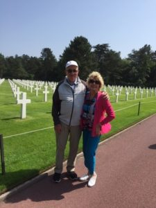 David Weir and Jan Fowler Crosses Normandy Cemetary2